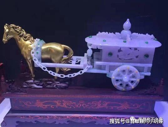 翡翠价值千万的翡翠马车,还有各种翡翠车!